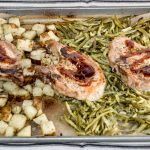 Sheet Pan Pork Chop Dinner. www.atwistedplate.com