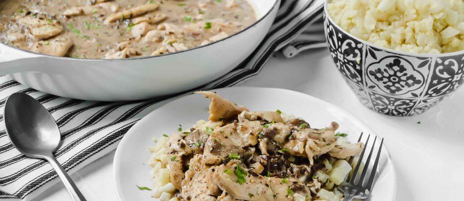 Creamy Chicken and Portabella Mushroom Sauce
